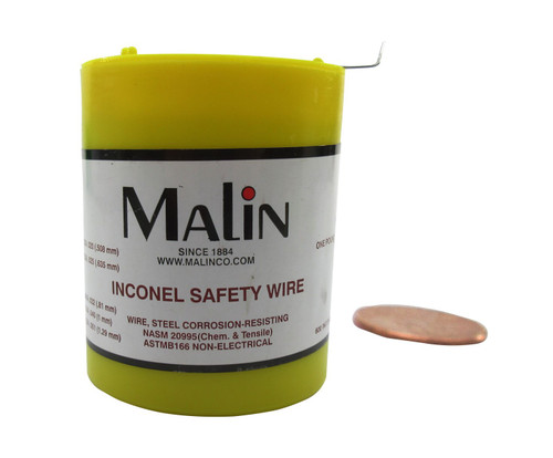 """Military Standard MS20995N32 Inconel 0.032"""" Diameter Safety Wire - 1 lb Roll"""