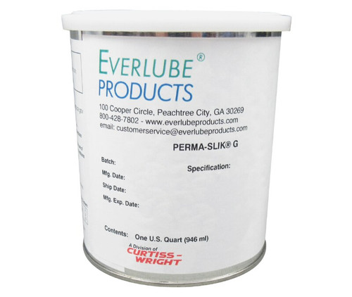 Everlube® Perma-Slik® G Gray/Black MIL-L-23398D, Amend. 2, Type I Spec Air Drying MoS2 Solid Film Lubricant - Quart Can
