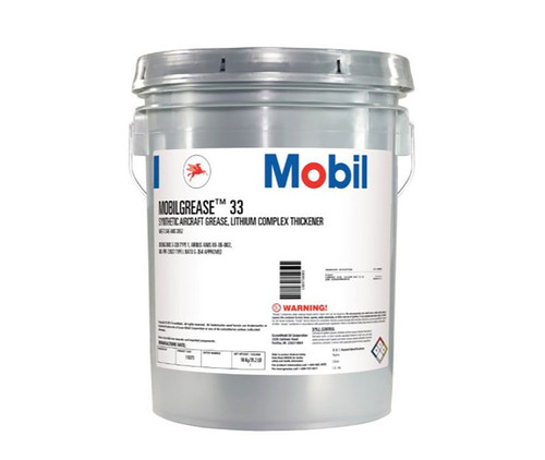 Mobilgrease™ 33 Blue-Green BMS 3-33B, Type 1 Spec Synthetic Aircraft Grease - 35 lb Pail