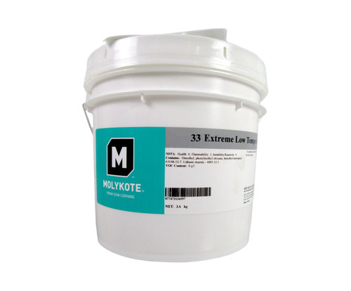 Dupont™ 4016028 MOLYKOTE® 33 Medium Off-White Extreme Low Temperature Grease - 3.6 Kg (8 lb) Pail