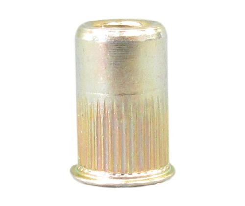 AVK AKS4-832-80 Yellow Zinc Steel 8-32 (.020-.080 Grip) Knurled Threaded Insert