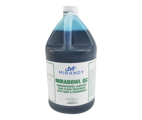 Mirabowl Q® 1485-342 Concentrate Dark Blue Aircraft Lavatory Tank Deodorant & Cleaner - Gallon Jug