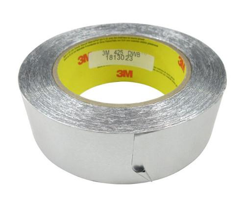 """3M™ 051125-85310 Silver 425 Aluminum 4.6 Mil Foil Tape - 1-1/2"""" x 60 Yard Roll"""