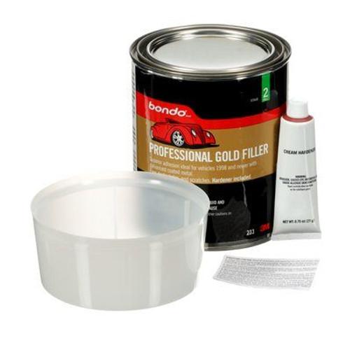 Bondo® 00233 Professional Gold Filler - Quart Kit