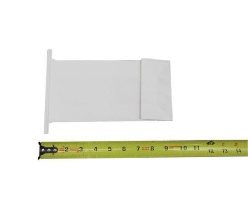 "Celeste® TRASB1 White 8.85"" x 4.52"" x 2.36"" Kraft Paper Block Bottom Air Sick Bags"