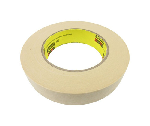 3M™ 021200-02814 Scotch® 202 Natural 6.3 Mil Crepe Masking Tape - 24 mm x 55 m Roll