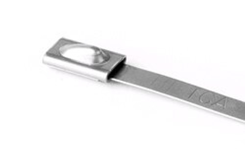 """HellermannTyton MBT14S-S Stainless Steel Cable Tie - 14.3"""" - 150-202lbs"""