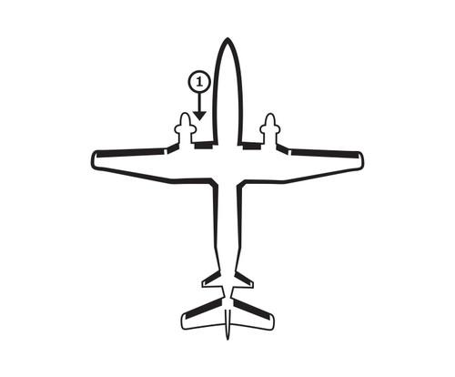 Goodrich P29S7D5137-21 FASTboot® Raytheon Beechcraft 1900C & 1900D LH Fuselage - Nacelle De-Ice Boot