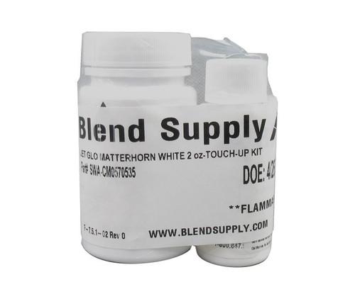 Sherwin-Williams U00150 JET GLO Matterhorn White Polyester Urethane Paint - 2 oz Kit
