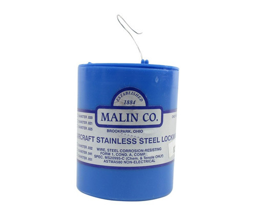 """Military Standard MS20995C28 Stainless Steel 0.028"""" Diameter Safety Wire - 1 lb Roll"""