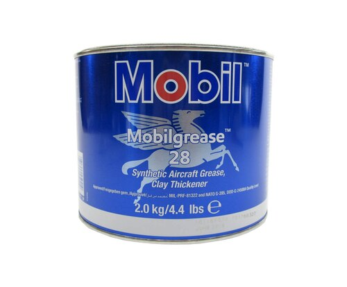 Mobilgrease™ 28 Red MIL-PRF-81322G Spec Synthetic Aircraft Grease - 4.4 lb Can