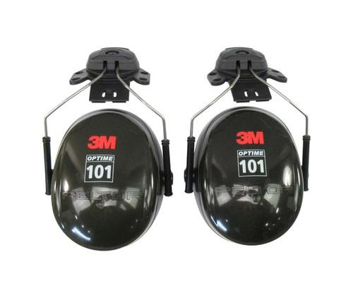 3M™ H7P3E PELTOR™ Optime™ 101 Black/Green 24 db Hard Hat Mounted Earmuff