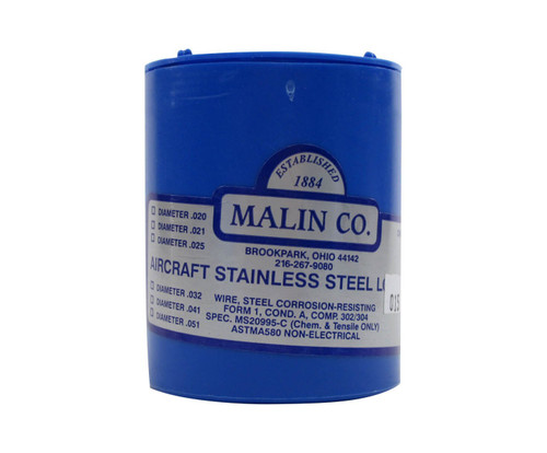 """Military Standard MS20995C15 Stainless Steel 0.015"""" Diameter Safety Wire - 1 lb Roll"""