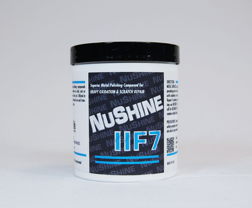 Nuvite PC222150LB Nushine II Grade F7 Light Corrosion, Blending Scratches & Pitting Metal Polishing Compound - 50 lb Pail