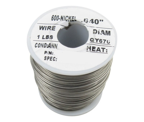 """Military Standard MS20995N40 Inconel 0.040"""" Diameter Safety Wire - 1 lb Roll"""
