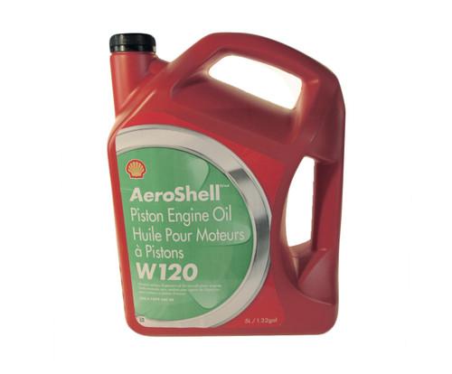 AeroShell™ Oil W120 SAE Grade 60 Ashless Dispersant Aircraft Oil - 1.32 Gallon (5 Liter) Jug
