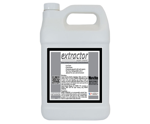 Nuvite PC22141GL Extractor Low Foam Aircraft Carpet & Upholstery Soil Extraction Cleaner - Gallon Jug