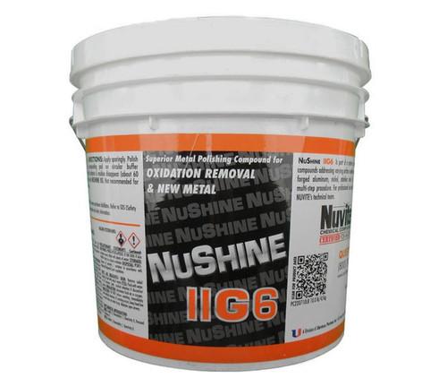Nuvite PC220710LB Nushine II Grade G6 New Metal/Serious Oxidation Removal Metal Polishing Compound - 10 lb Pail
