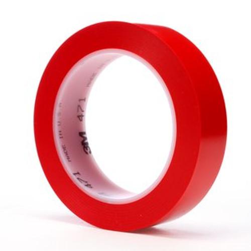 """3M™ 021200-03107 Red 471 Vinyl 5.2 Mil Tape - 1"""" x 36 Yard Roll"""