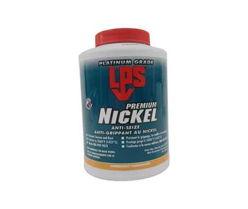 LPS® 03910 Silver/Gray Nickel Anti-Seize Paste - 1 lb Brush-Top Jar