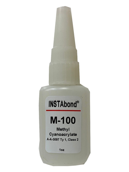 INSTAbond® M-100 Clear A-A-3097 Type 1 Class 2 Cyanoacrylate Adhesive - 1 oz Bottle