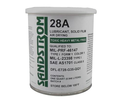 Sandstrom 28A Gray MIL-PRF-46147 Type I, Form 1, Color 1 / MIL-L-23398 Type I Spec Solid Film Lubricant - Quart Can