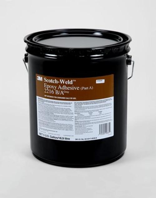 3M™ 021200-20365 Scotch-Weld™ 2216 Part A Gray Epoxy Adhesive - 18.9 Liter (5 Gallon) Pail