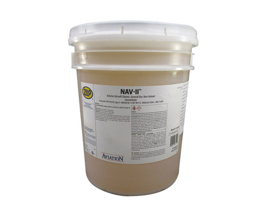 ZEP® H81235 Aviation™ NAV-II Yellow MIL-PRF-85570 Type II Spec Exterior Aircraft Cleaner & Degreaser - 5 Gallon Pail