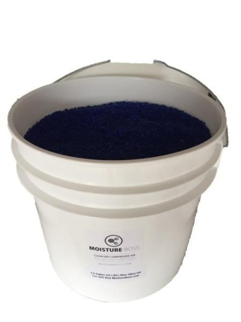 Military Specification MIL-D-3716 Type IV, Grade H Blue Beaded Indicating Silica Gel - 5 Gallon Pail