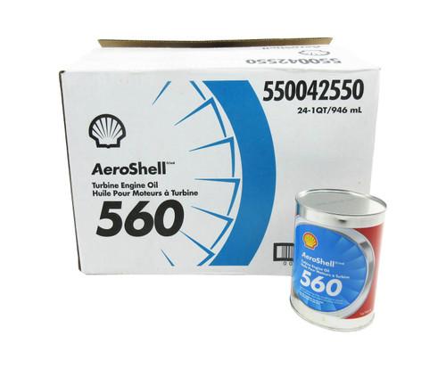 AeroShell Turbine Oil 560 Synthetic Turbine Engine Oil - 24 Quart/Case