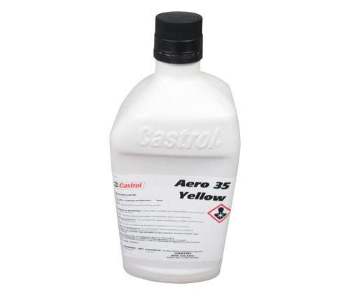 Castrol® Aero™ 35 Yellow BMS 3-32C Type I Spec Petroleum Based ISO 15 Aircraft Landing Gear Shock Strut Fluid - Quart Bottle