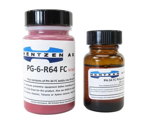 Hentzen Aerospace PG-6-R64/PH-36 FS 11136 Gloss Red Polyurethane Topcoat Paint - 2.5 oz Touch-Up Kit