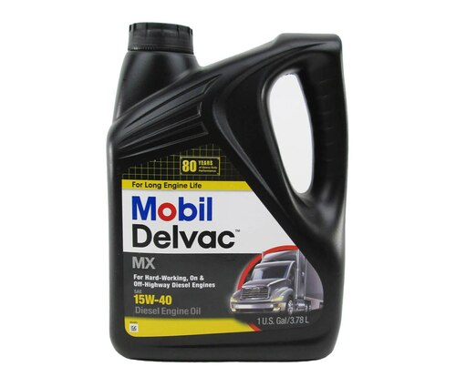 Mobil Delvac MX™ 122214 Amber SAE Grade 15W-40 Diesel Engine Oil - Gallon Jug