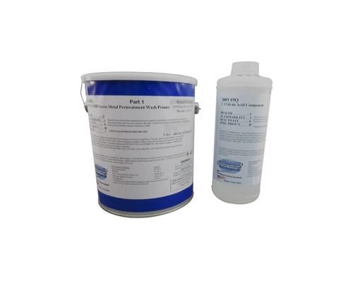 Military Specification DOD-P-15328D Green Metal Pre-Treatment 2-Part Wash Primer - 1.25 Gallon Kit