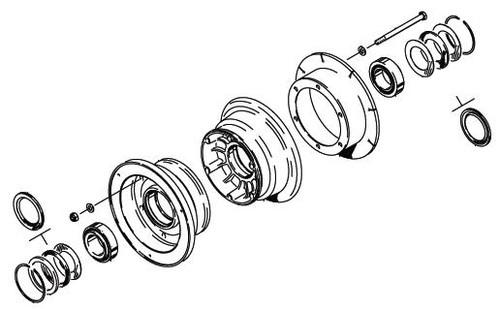 Cleveland Wheel & Brake 40-120 Wheel Assembly
