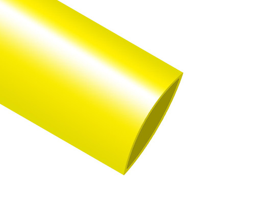 """ICO-Rally HIX-3/4"""" Yellow Heat Shrink Tubing - Sold by 4' Stick"""