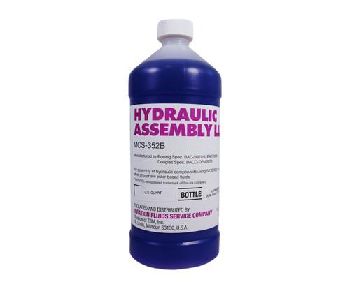 Eastman™ MCS®-352B Purple BAC-5001-6 Spec Hydraulic Assembly Lube - 946 mL (Quart) Bottle
