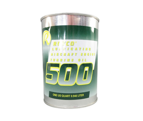 ROYCO® 500 Clear MIL-PRF-23699G Spec Synthetic Gas Turbine Engine Oil - Quart Can