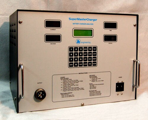 JFM 9899603001 SuperMasterCharger Aircraft Lead Acid & Ni-Cad Battery Charger / Analyzer