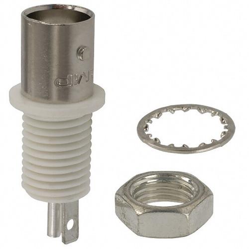 TE Connectivity 5227726-2 Zinc/Nickle Male Solder BNC Bulkhead Connector, Plug, Electrical