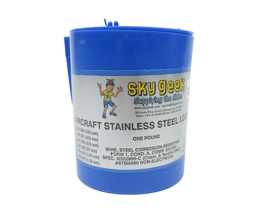 """Military Standard MS20995C60 Stainless Steel 0.060"""" Diameter Safety Wire - 1 lb Roll"""