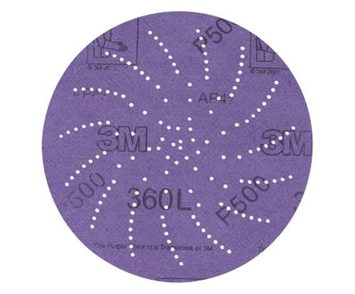 """3M™ 051141-20825 360L Purple 3"""" P400 Grit Sanding Disc"""