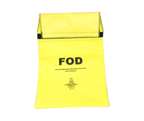 Seitz Scientific FOD-3 Fluorescent Yellow FOD Bag attaches to Maintenance Stand Hand Rail