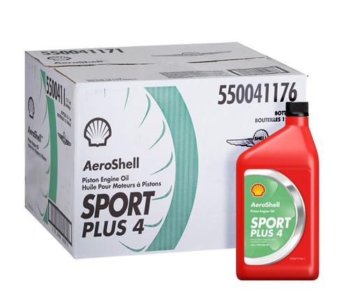 AeroShell™ Oil Sport PLUS 4 Light Sport Aircraft Oil - 12 Liter/Case