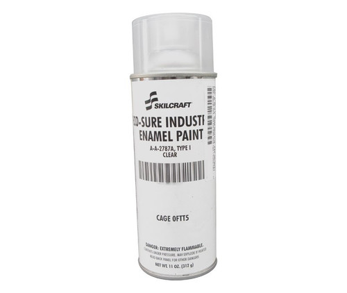 Skilcraft® 0674-100 ECO SURE® Clear A-A-2787A Type I Spec Industrial Enamel Paint - 11 oz Aerosol Can