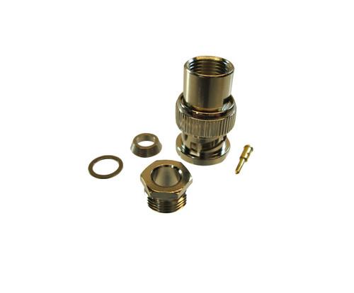 Amphenol RF 31-2-RFX Brass/Nickle RG-58, RG-141, RG-142, RG-400 BNC Male Straight Connector, Plug, Electrical