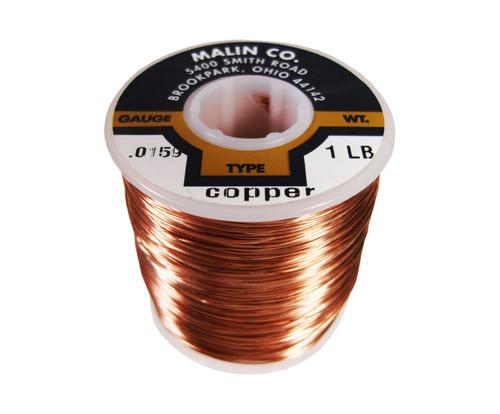 """Malin 11-0159-001S Copper 0.0159"""" #26 Breakaway Wire (1 lb Roll)"""