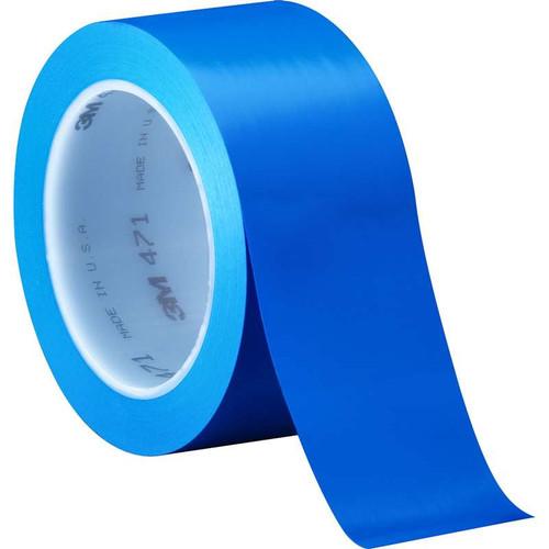 """3M™ 021200-04308 Blue 471 Vinyl 5.2 Mil Tape - 2"""" x 36 Yard Roll"""