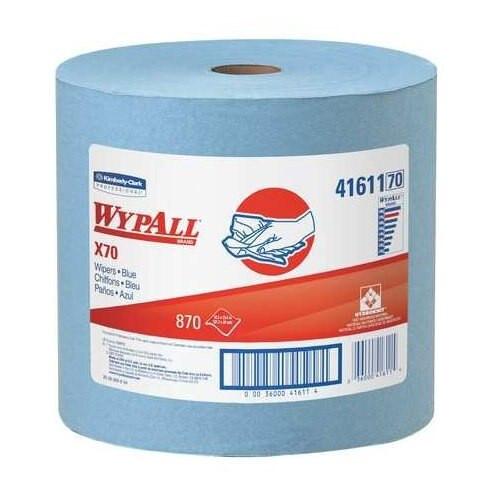 "WypAll® 41611 X70 Blue 12.5"" x 13.4"" Reusable Paper Towels - 475 Sheet/Jumbo Roll"