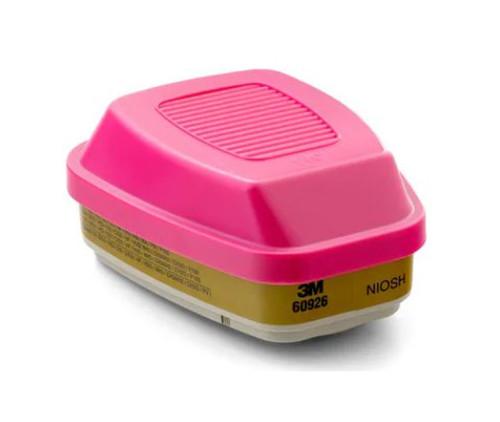 3M™ 051138-54187 Multi Gas/Vapor Cartridge/Filter 60926, P100 - Pack of 2
